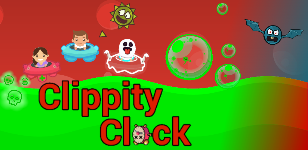 Feature Graphic Clippty Clock, Closed Alpha