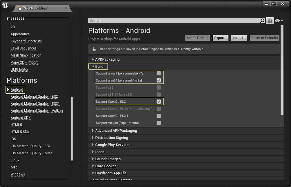 Come creare un gioco per visore VR impostazioni Android corrette