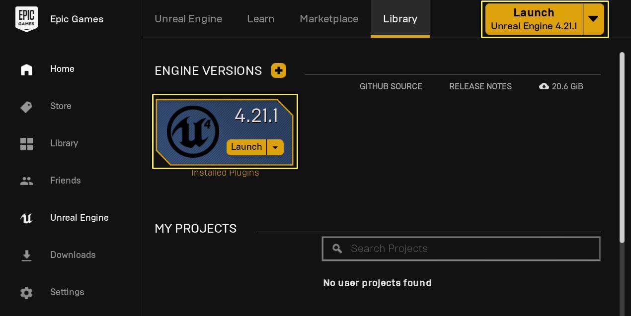 Avviare Unreal Engine 4 download installazione come creare un progetto