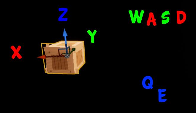 muovere oggetti unreal engine 4 wasd qe assi xyz