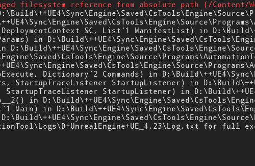 Attempt to construct staged filesystem reference from absolute path [FIX]