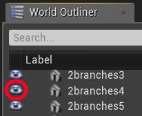 Tutte le azioni possibili su un actor in Unreal Engine 4: come nascondere o rendere visibile un actor.