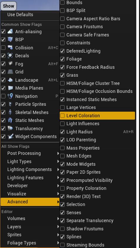 Come attivare la colorazione livelli su Unreal Engine 4 Ita