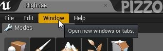 Riaprire una scheda chiusa su Unreal Engine 4