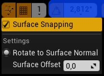 Surface Snapping Options
