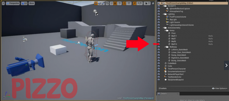 How to change the size of a tab in the editor of Unreal Engine 4 Cambiare dimensioni finestra