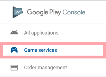 Open Game Services on Google Play Console even if it is only in a testing (Internal/Open test)