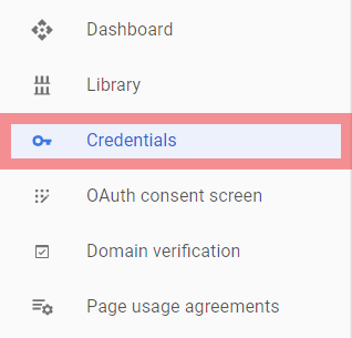 API Console Credentials Google Game Services