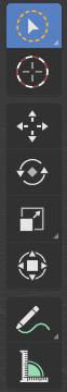 Come iniziare su Blender Barra Funzionale Function Bar Tool