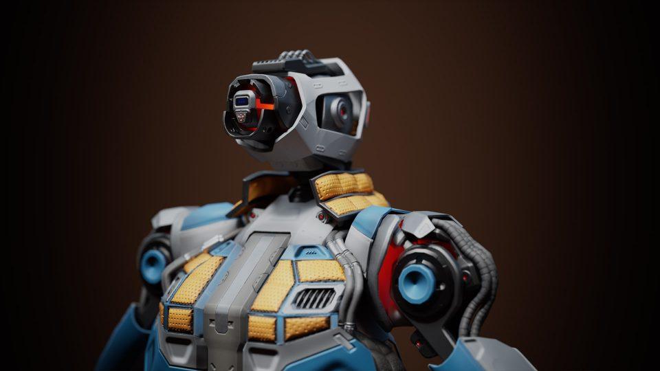 Realistic Robot Skeletal Mesh